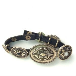 Vintage Concho leather bracelet